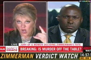 """Nancy Grace's eyes practically roll into the back of her head as she screams """"fucking coon"""" unedited on CNN's Headline News."""
