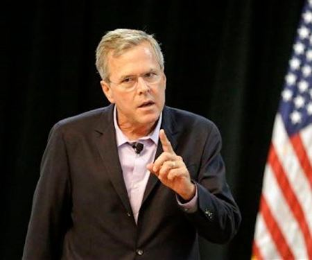 Republican presidential candidate, former Florida Gov. Jeb Bush, speaks at a small business town hall meeting, Monday, July 27, 2015, in Longwood, Fla. (AP Photo/John Raoux)