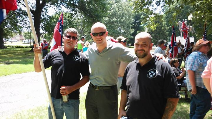 James Edwards of The Political Cesspool and League of the South members attend Nathan Bedford Forrest rally in Memphis