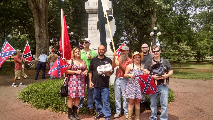 """League of the South participates In """"Marching Through Oxford"""" rally at Ole Miss in August 2014"""
