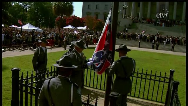 "Confederate Battle Flag lowered in South Carolina after ""compromise"" is repudiated"