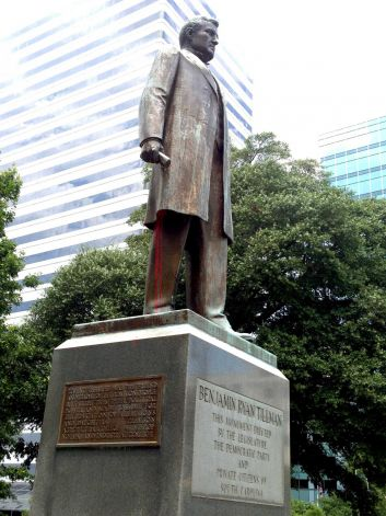 Ben Tillman statue at South Carolina Statehouse was vandalized