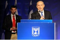 Netanyahu speaks after elections