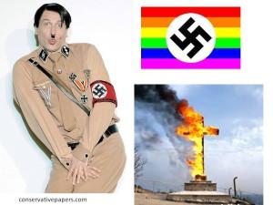 gays bash christianity