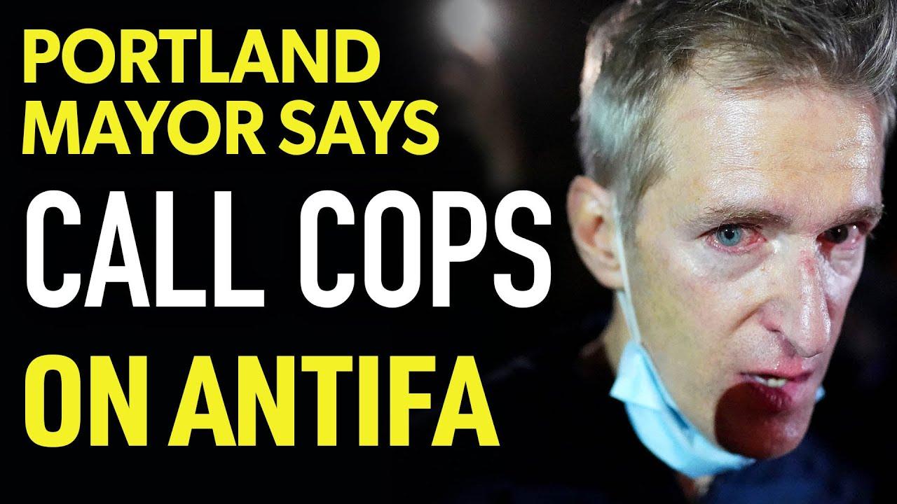 Andrew Klavan Portland Mayor pleads to CALL COPS on Antifa
