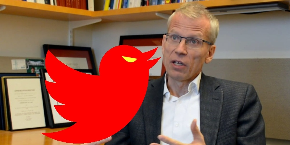 Harvard Epidemiologist Martin Kulldorff Locked Out by Twitter Over Confirmed Face Mask Realities