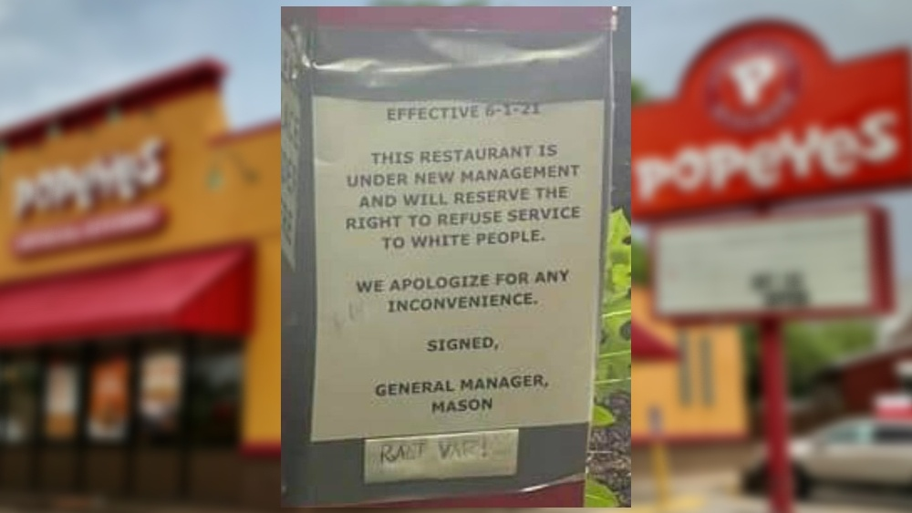 Police Believe Anti-White Sign Posted at Popeyes in Missouri Was NOT Placed by Employees