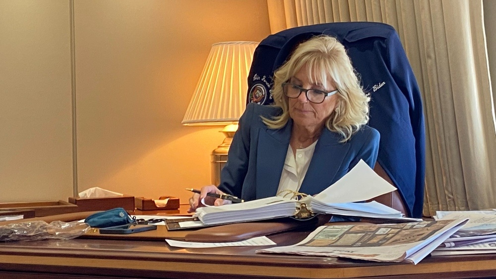 Who's The Boss_ Why is Jill Biden 'Prepping' for G7 at the POTUS Desk on Air Force One_