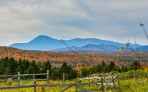 Autumn in Mount with Mount Katahdin in background (photo taken by Greg Clark)