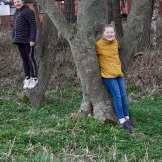 Gracie F - Tree Hugging!