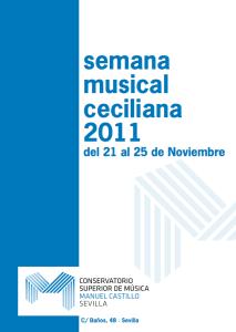 Semana musical Ceciliana 2011