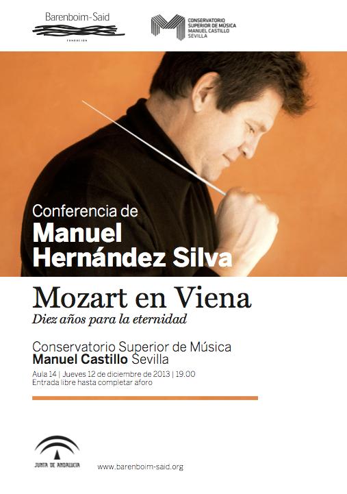 Cartel conferencia Manuel Hernández Silva
