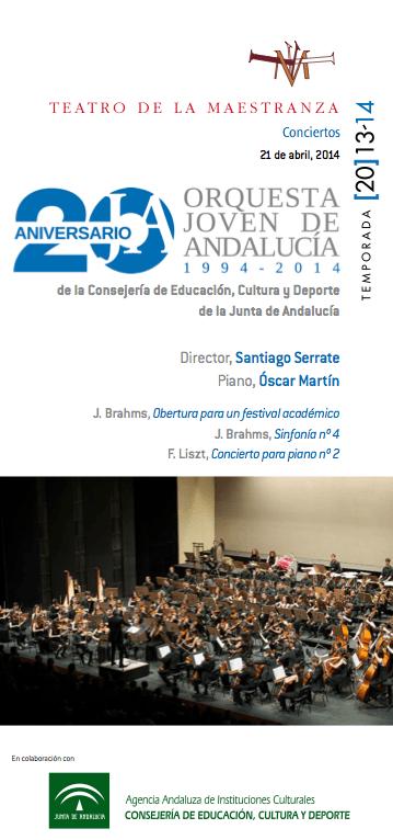 Óscar Martín en el Teatro de la Maestranza acompañado por la OJA