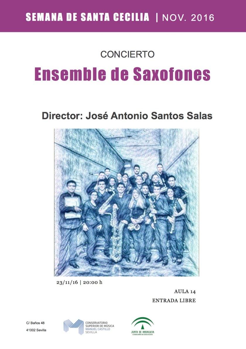 Ensemble de saxofones del CSM Manuel Castillo