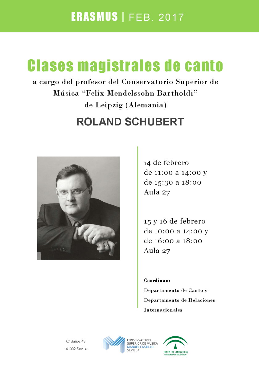 Clases magistrales de canto — Roland Schubert