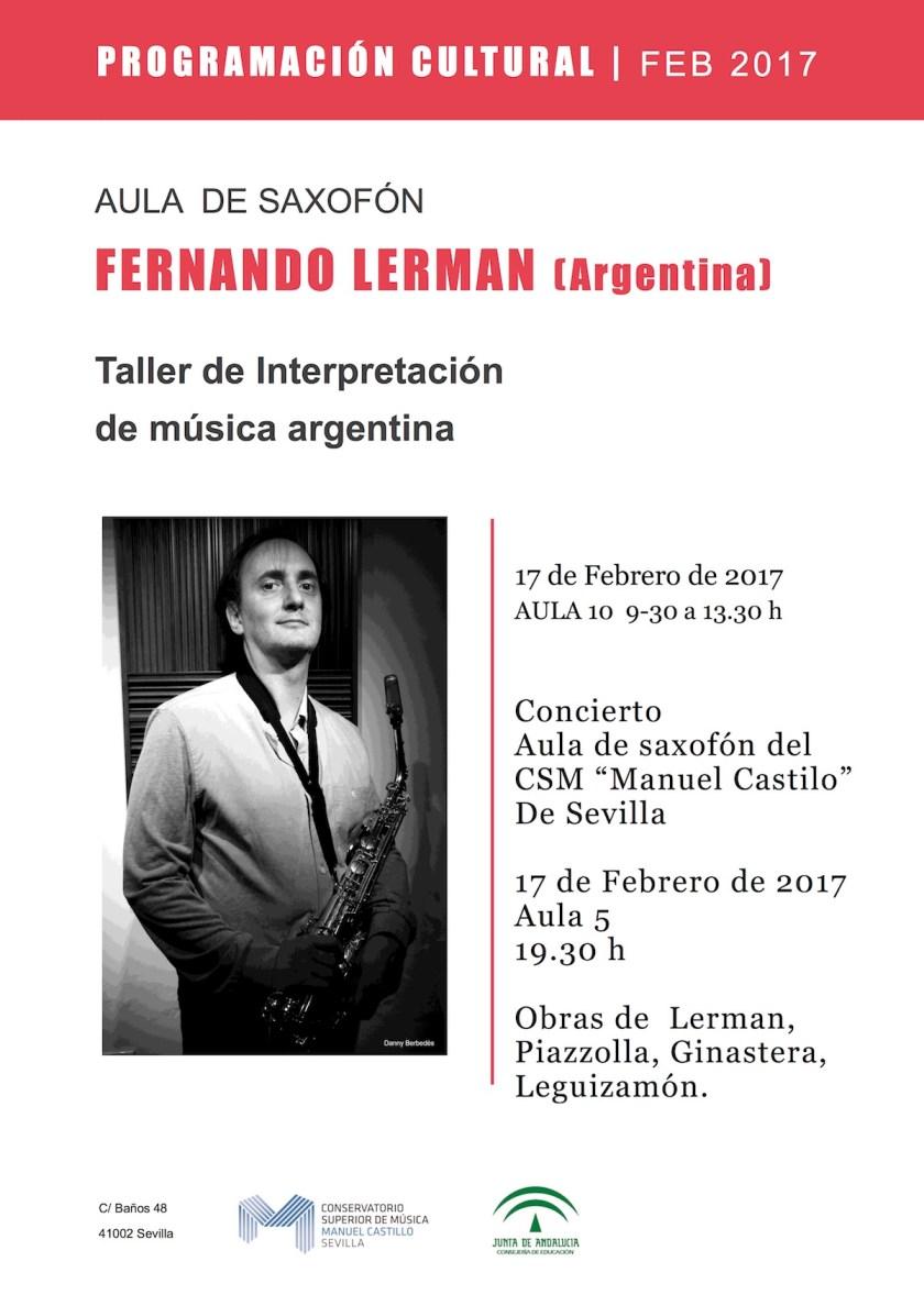 Taller de Interpretación de música argentina — Fernando Lerman