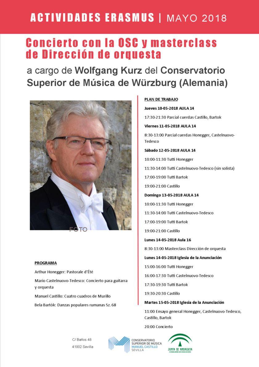 Masterclass de dirección de orquesta y concierto con la OSC — Wolfgang Kurz