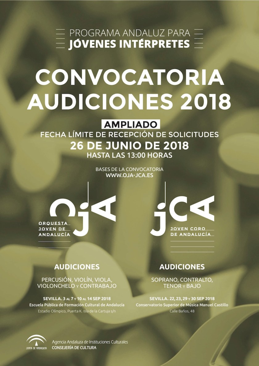 Programa Andaluz para Jóvenes Intérpretes — Ampliado el plazo de presentación de solicitudes
