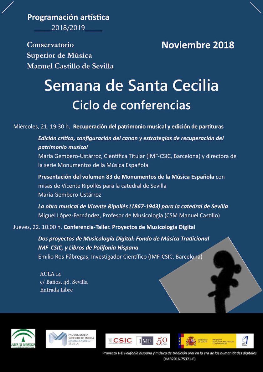 Santa Cecilia 2018 — Conferencias
