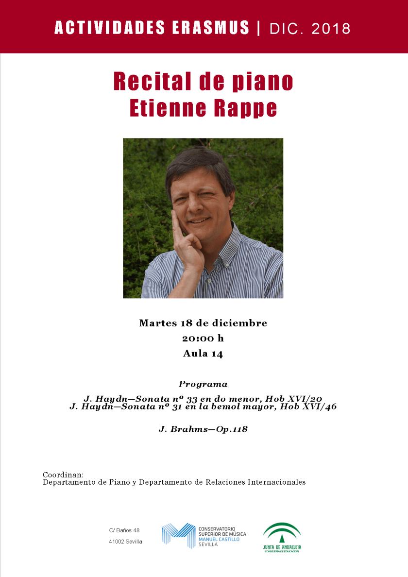 Recital Etienne Rappe