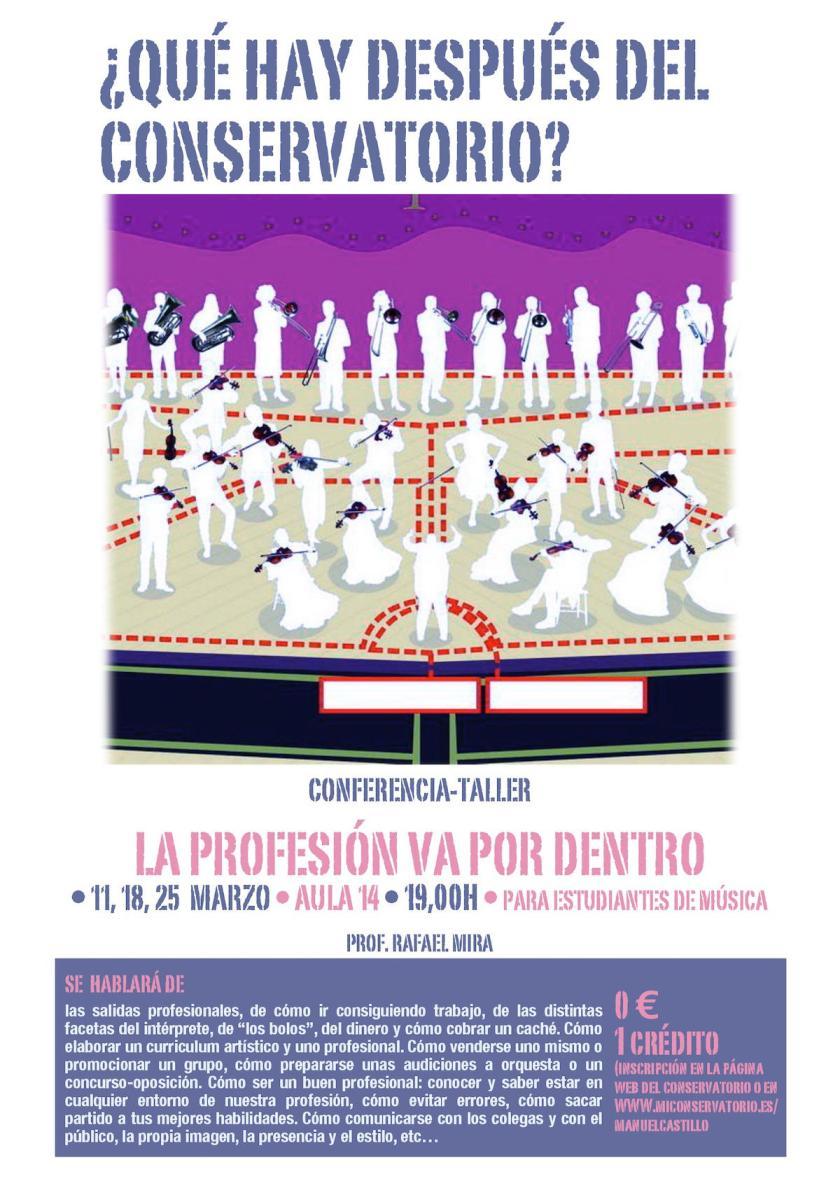Conferencia-taller La profesión va por dentro — Rafael Mira