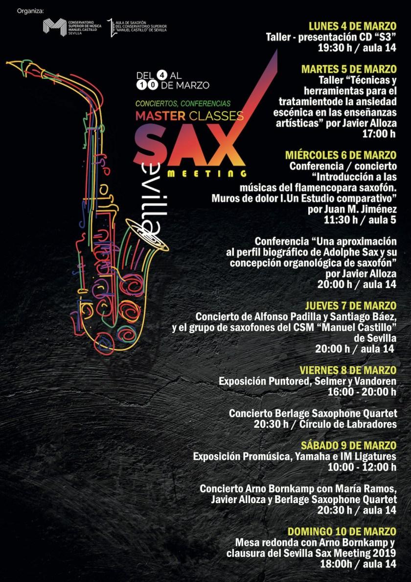 Programa Sevilla Sax Meeting 2019