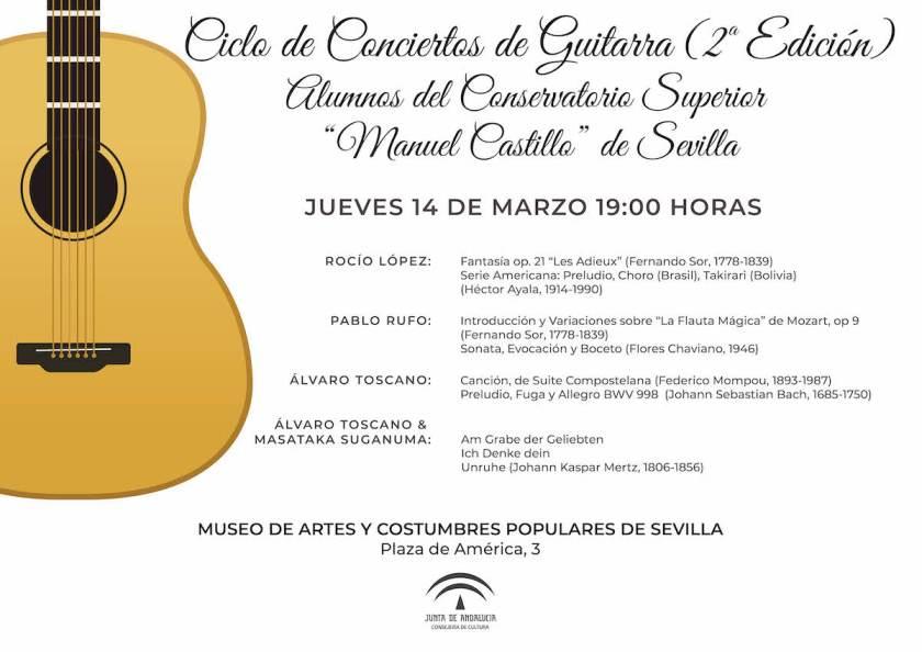 Ciclo de Conciertos de Guitarra - Programa 14 marzo