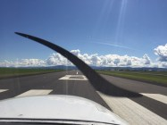 Landing at Grangeville. First stop of the day done.