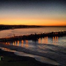 Sunrise over Santa Cruz