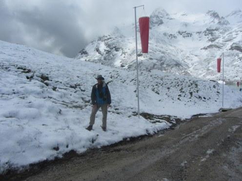 Enjoying fresh snow on June 17th