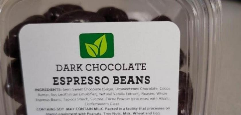 Torn & Glasser Dark Chocolate Espresso Beans Recall 2021