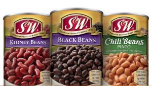 S&W Beans Recall - Black Beans & Chili Beans Recalled
