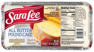 Sara Lee All Butter Pound Cake Class Action Lawsuit
