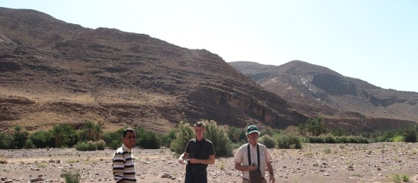 Mountains of Sedimentary rock in hinterlands of Morocco
