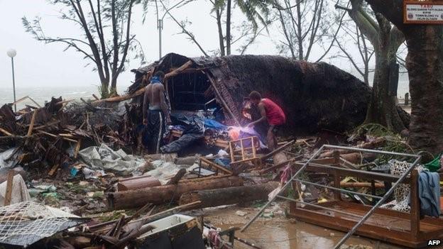 Devastation from Cyclone Pam in Vanuatu - March 2015