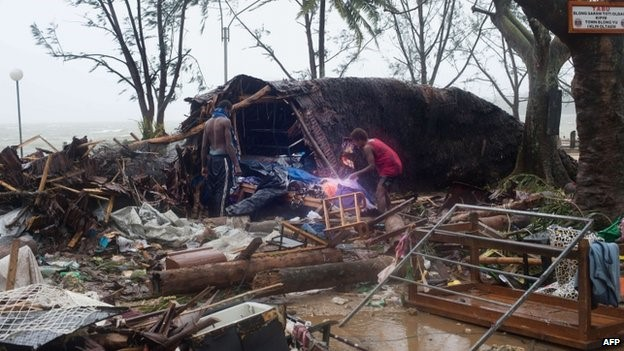 Devastation from Cyclone Pam in Vanuatu - March 2015