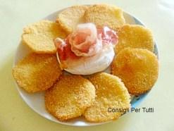 Zucca trombetta impanata con tomino alla piemontese: ricetta facile