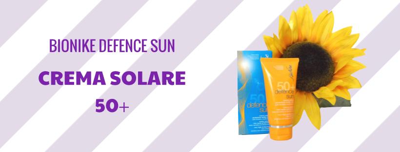 Crema solare 50+ Bionike, protezione molto alta per pelli sensibili e intolleranti