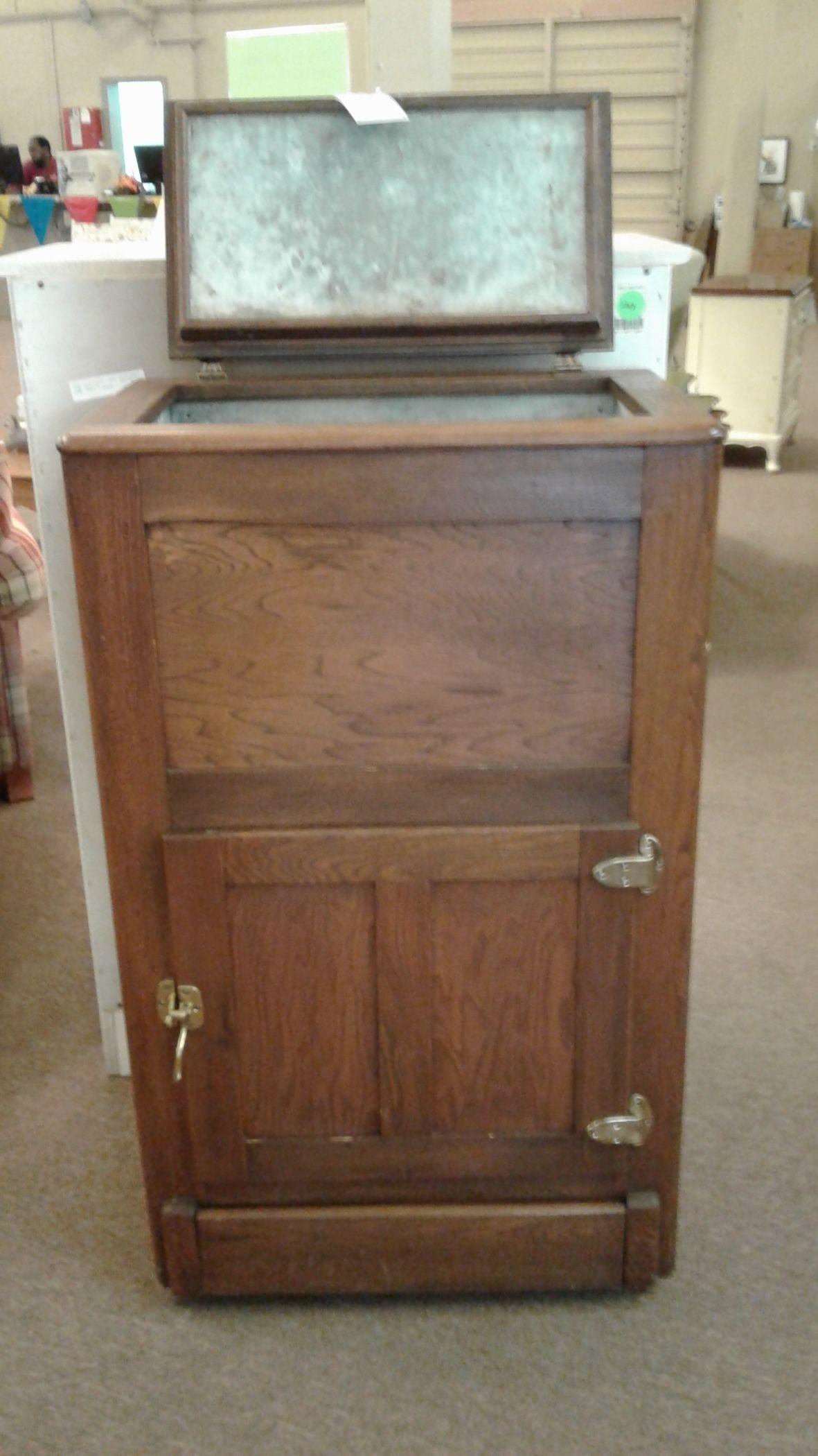 ANTIQUE OAK ICE BOX Delmarva Furniture Consignment