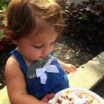 The first taste of funnel cake