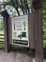 Signs at Prairie town