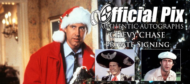 Official Pix Launches Private Autograph Signing with Chevy Chase