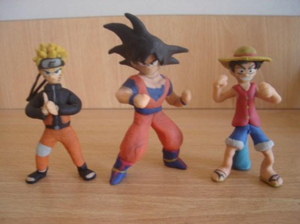 Naruto, Goku y Luffy