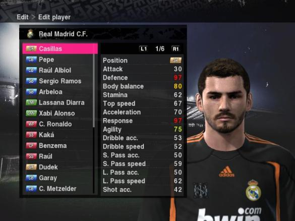 Iker Casillas PES 2010