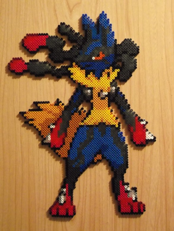 Hama Beads Pokémon Mega Lucario