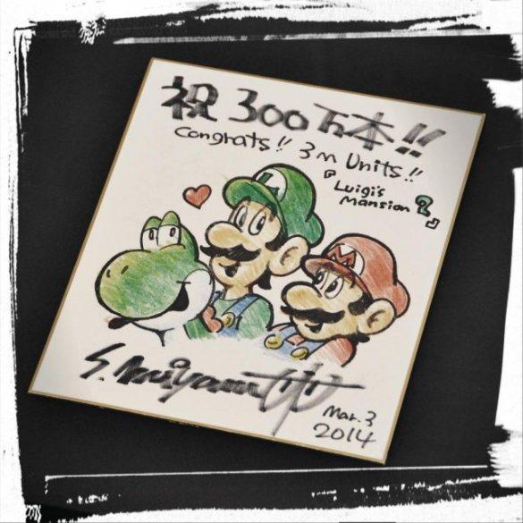 Miyamoto dibujo Luigi's Mansion