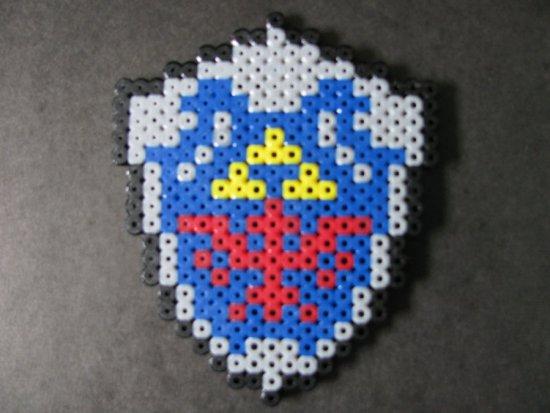 Hama Beads Escudo Zelda