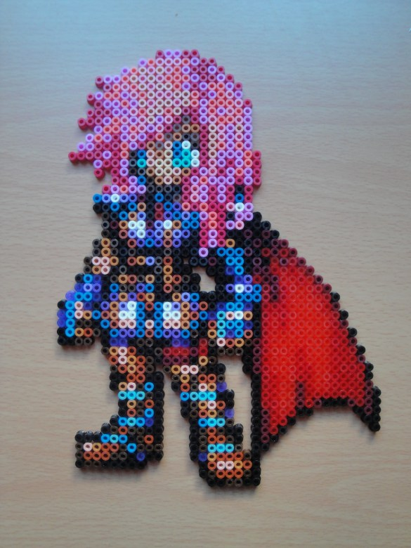 Hama beads Final Fantasy Lightning