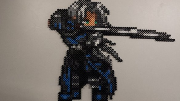 Hama beads Final Fantasy Shepiroth