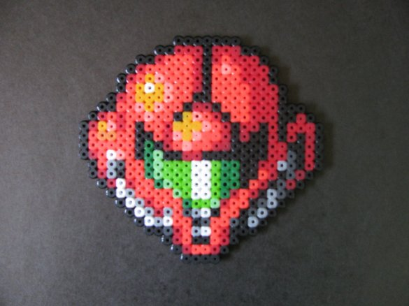 Hama Beads Casco Samus